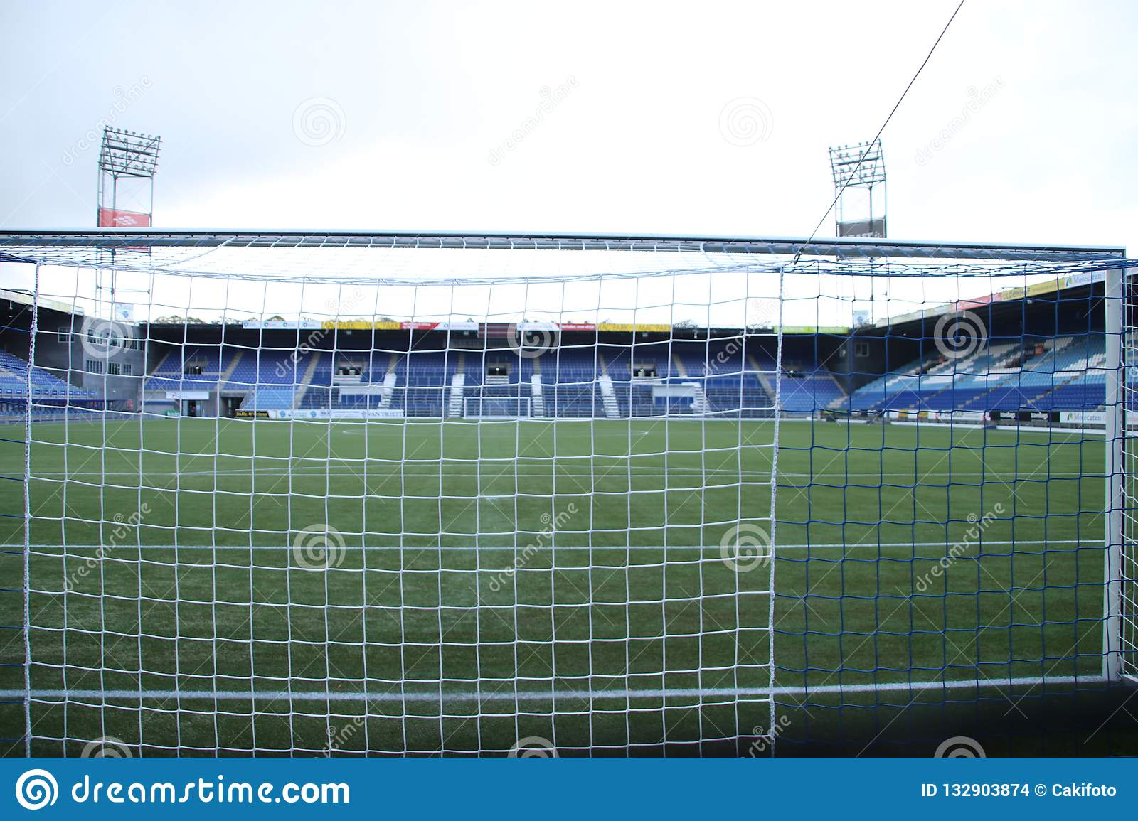 Footbal Soccer Stadium Of The Eredivisie Team Pec Zwolle In The Netherlands On The Inside Editorial Stock Image Image Of Zwolle Eredivisie 132903874