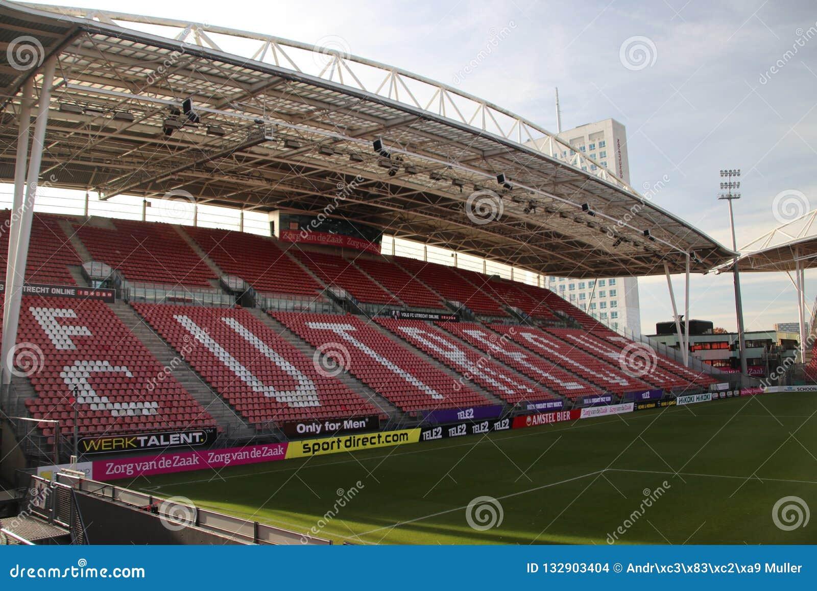 Footbal Soccer Stadium Of Fc Utrecht Named Nieuwe Galgenwaard From