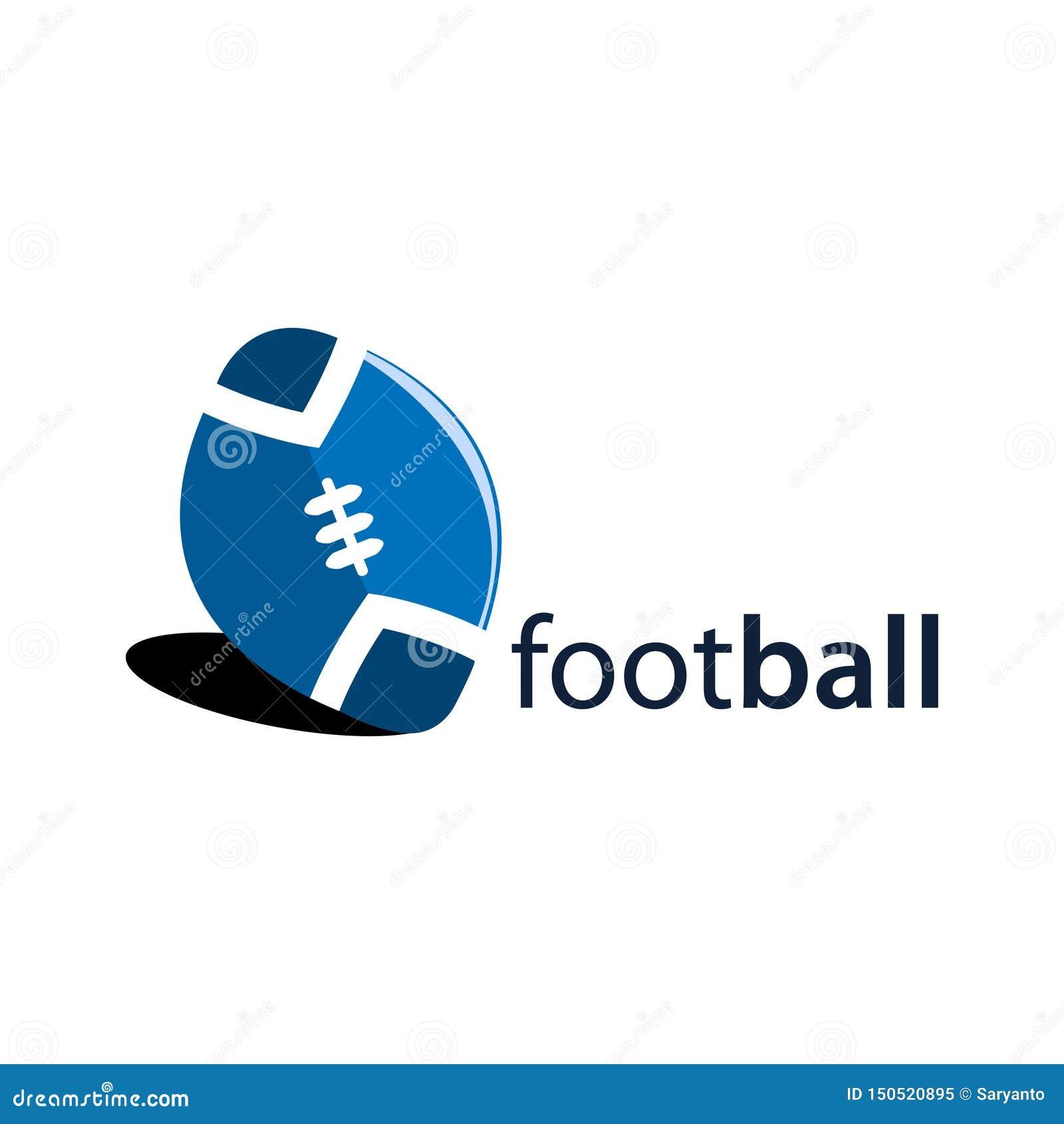 American football logo stock, flat design.. Vector illustration on white background.