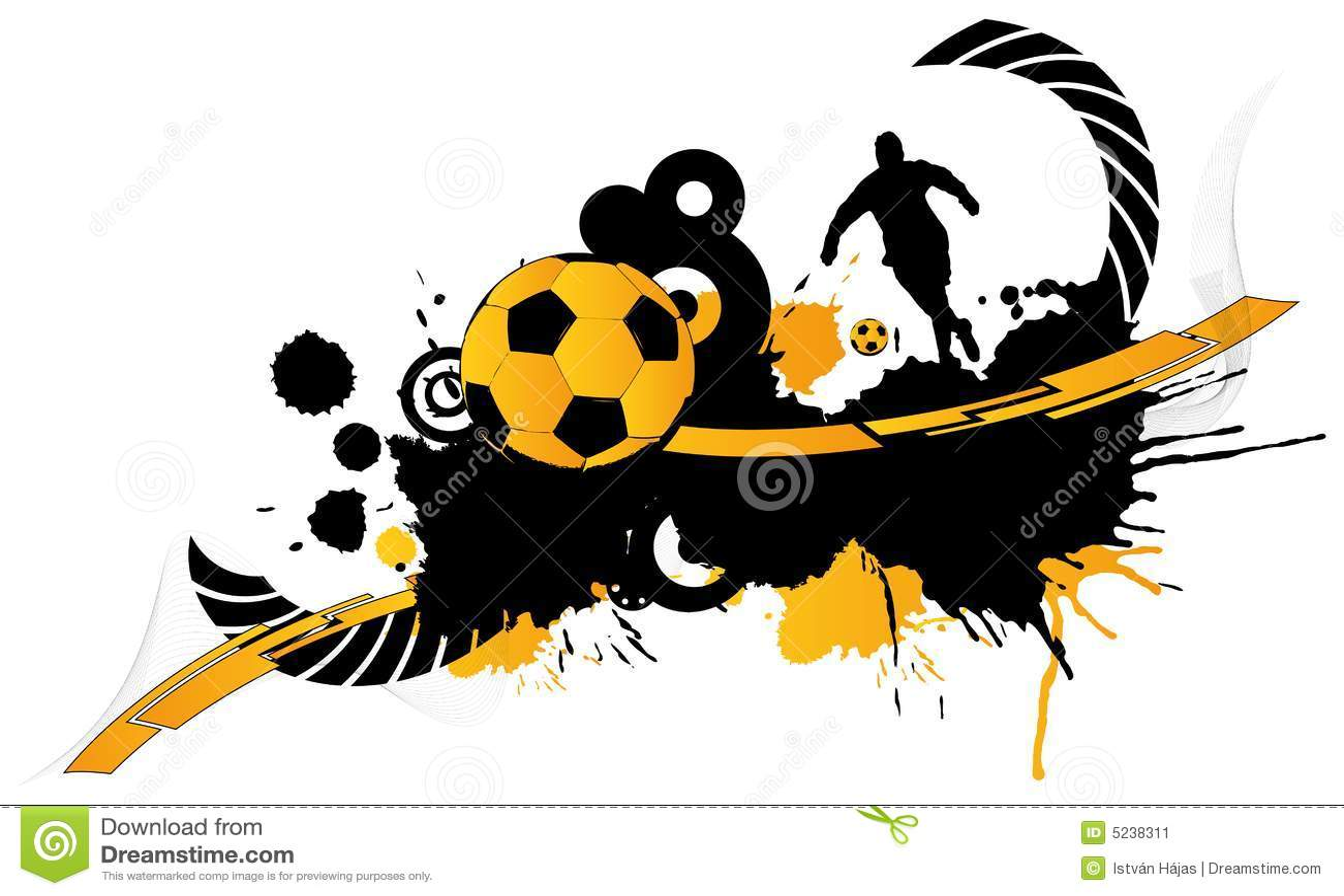 Football Abstract 1 Stock Illustration Illustration Of