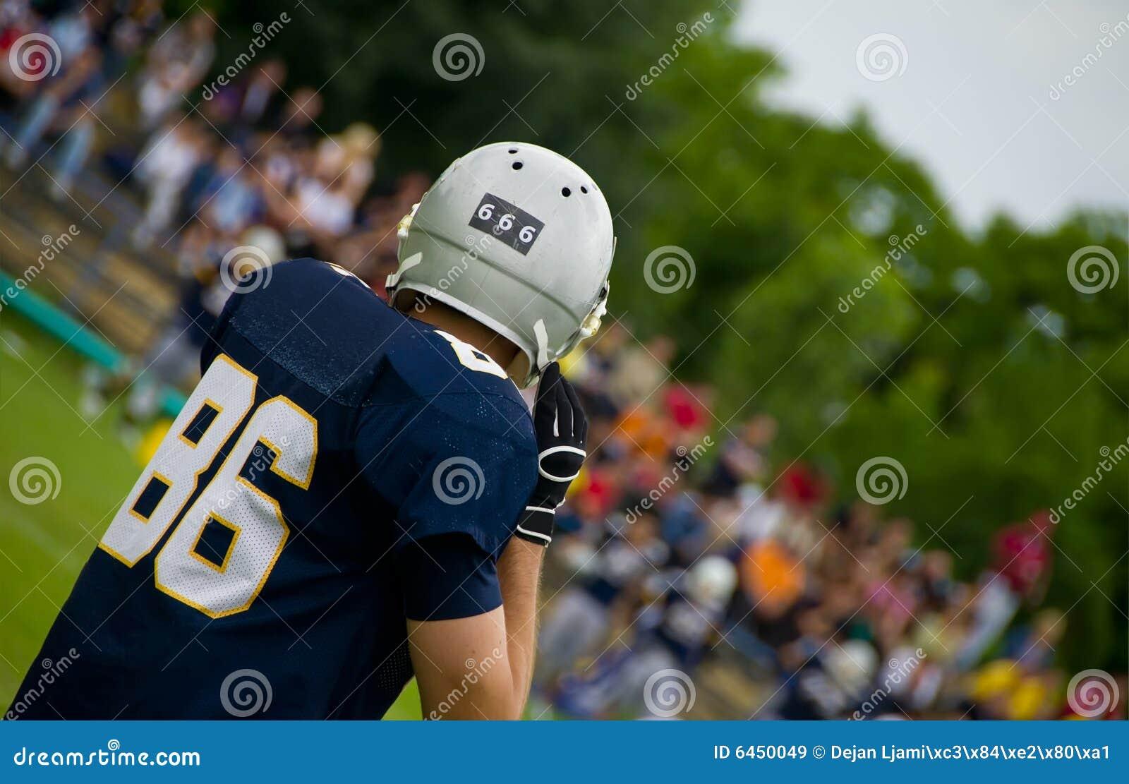 Football amerykański gracza