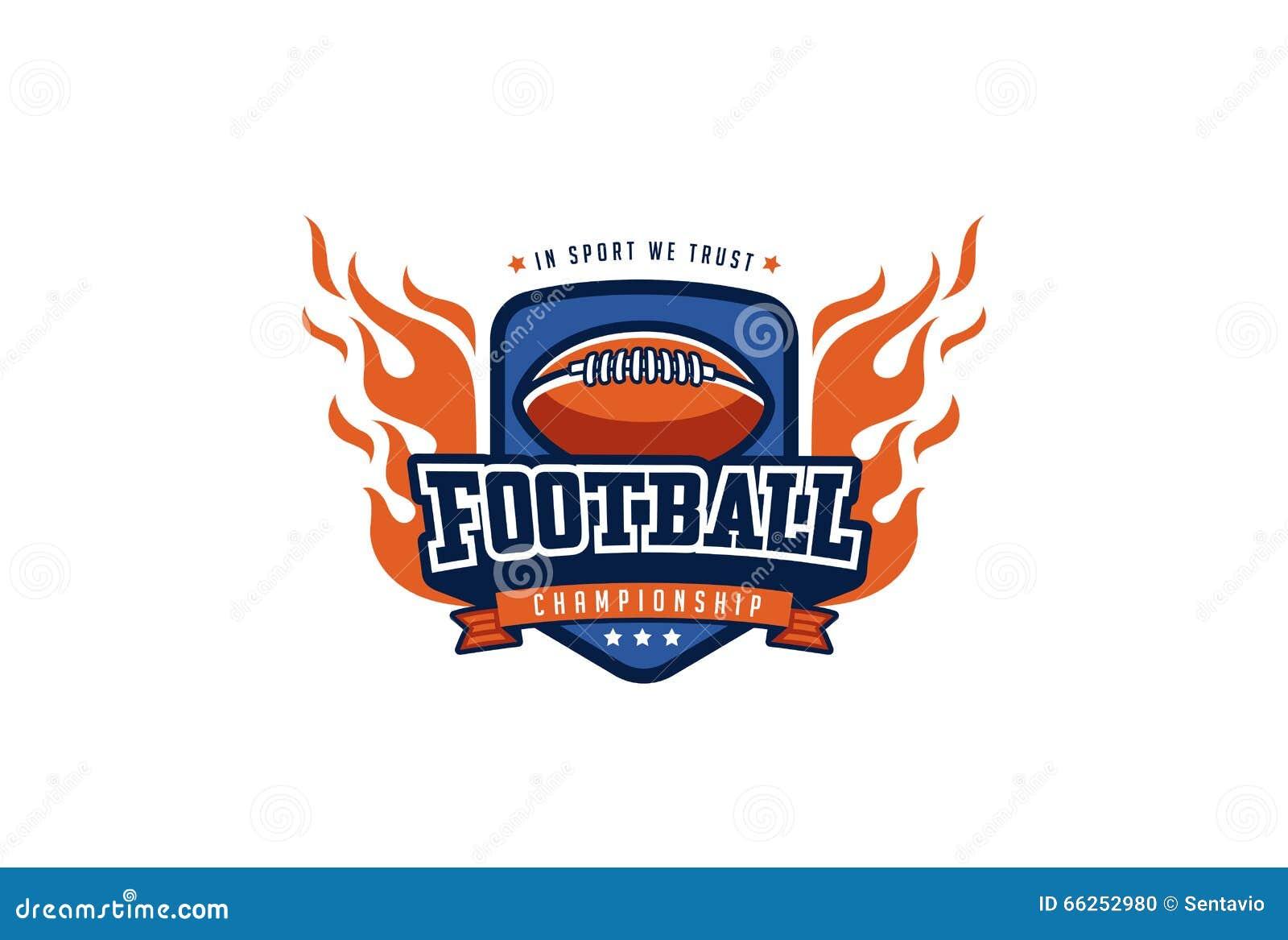 T-shirt logo design - Football Badge Logo Design T Shirt Sport Team Identity Label Stock Photo