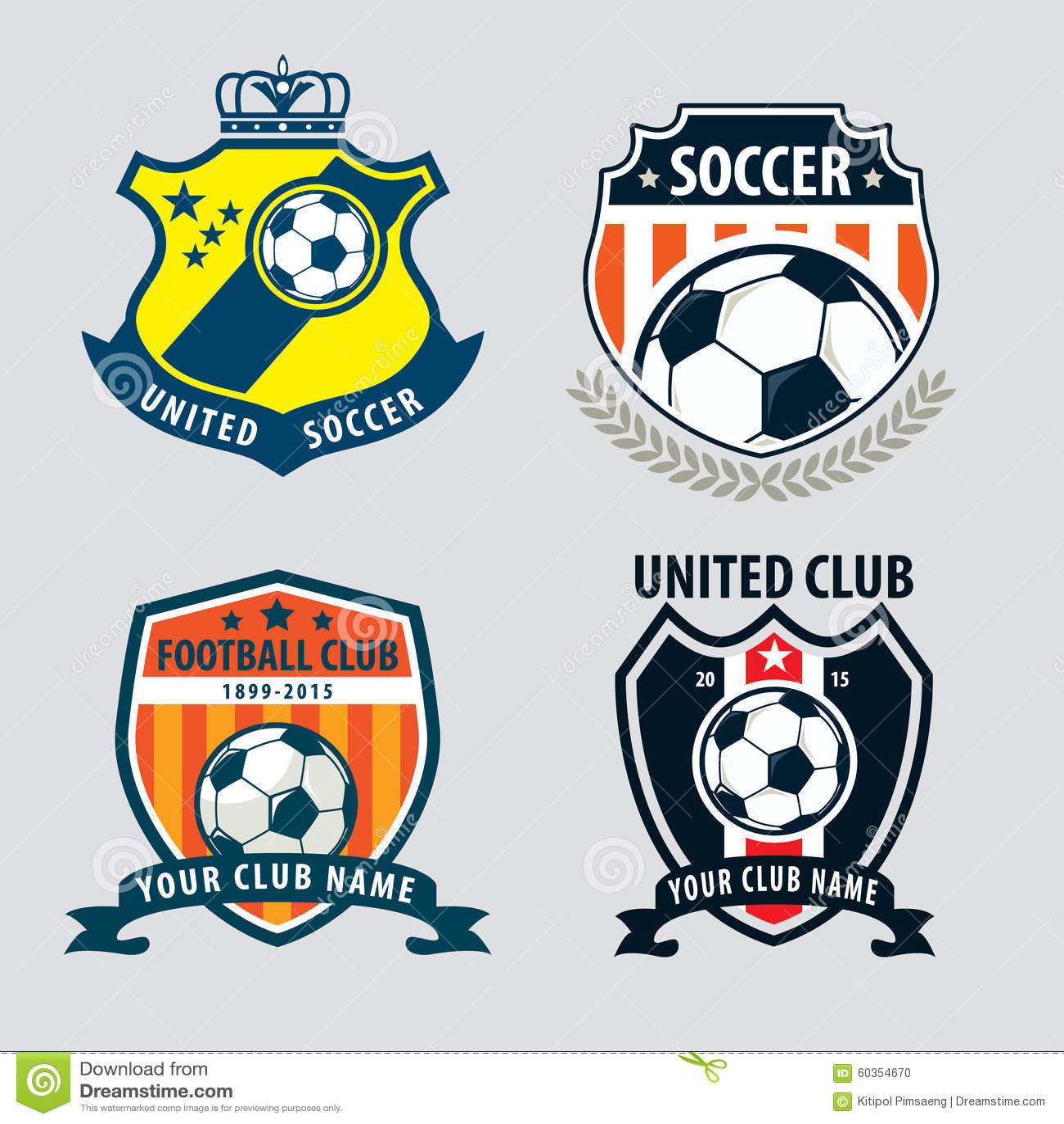 Football badge logo template collection designsoccer teamvecto download football badge logo template collection designsoccer teamvecto stock vector illustration maxwellsz