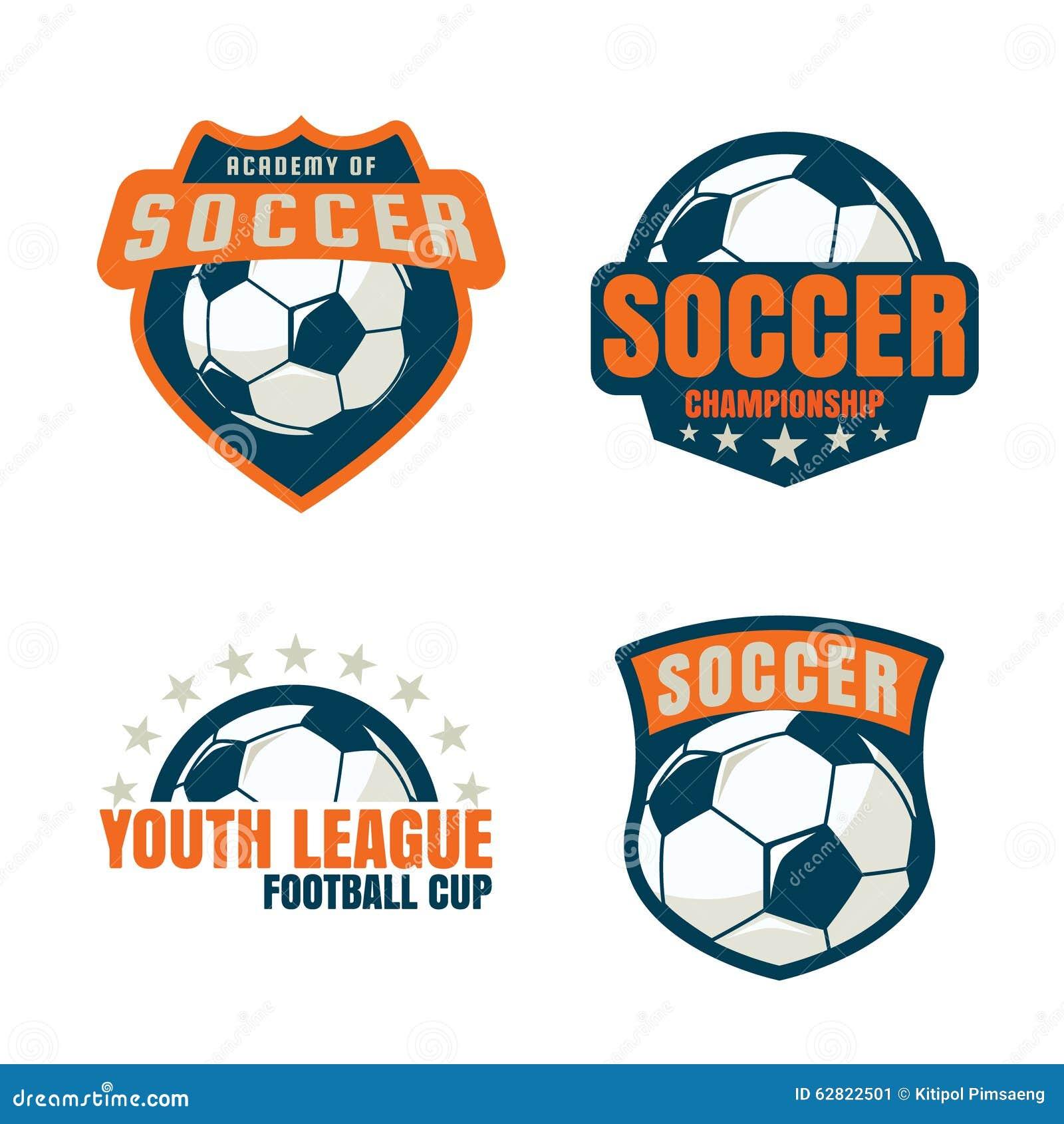 Football Badge Logo Template Collection Design. Shield, Department.