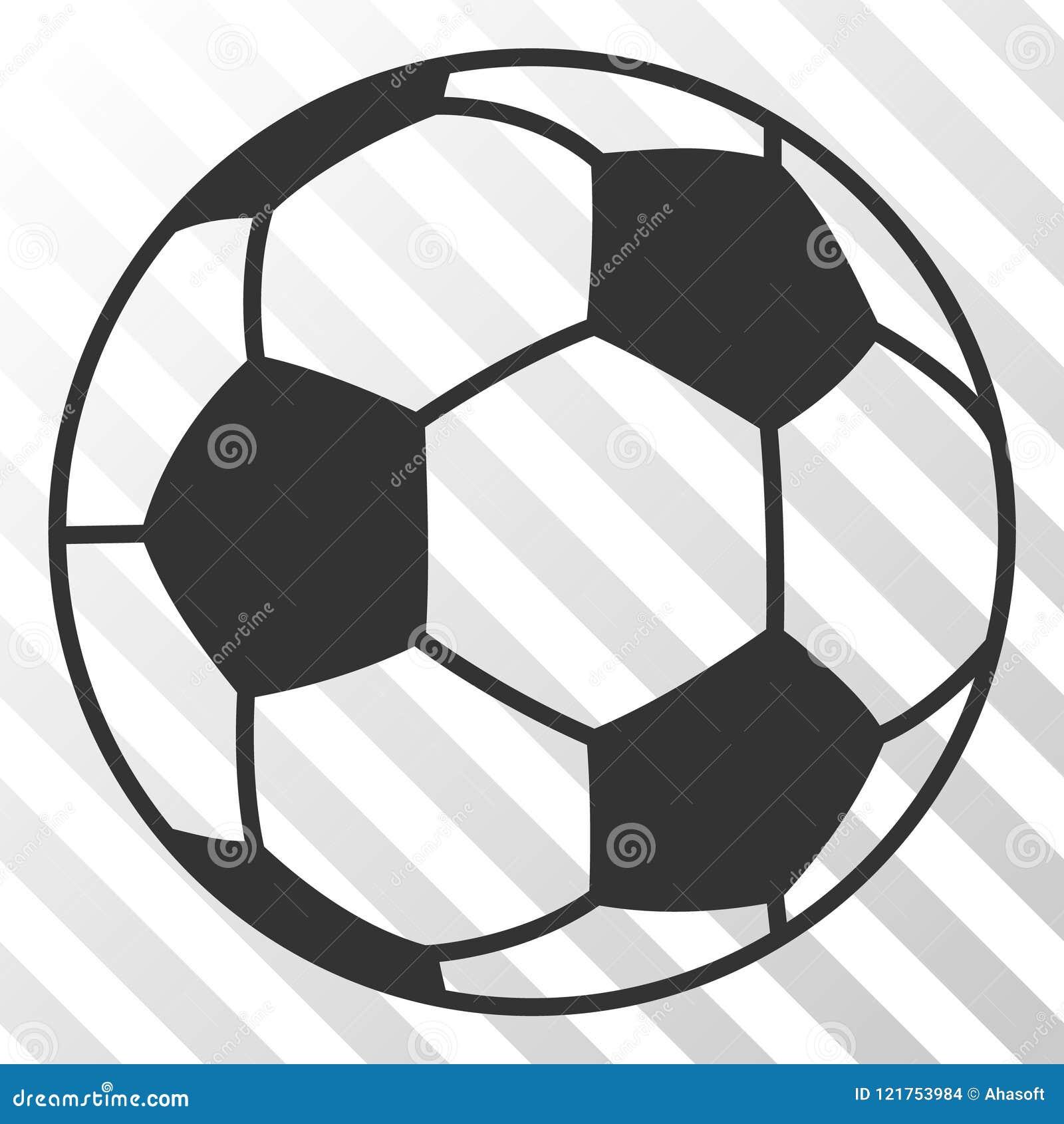 Football Ball Vector Eps Icon Stock Vector Illustration Of