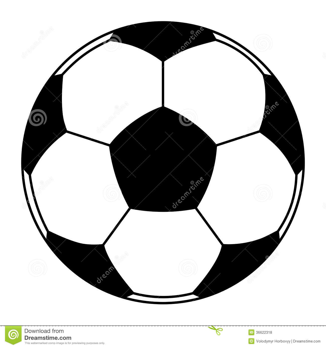 Vector icon of soccer ball isolated. clip-art.