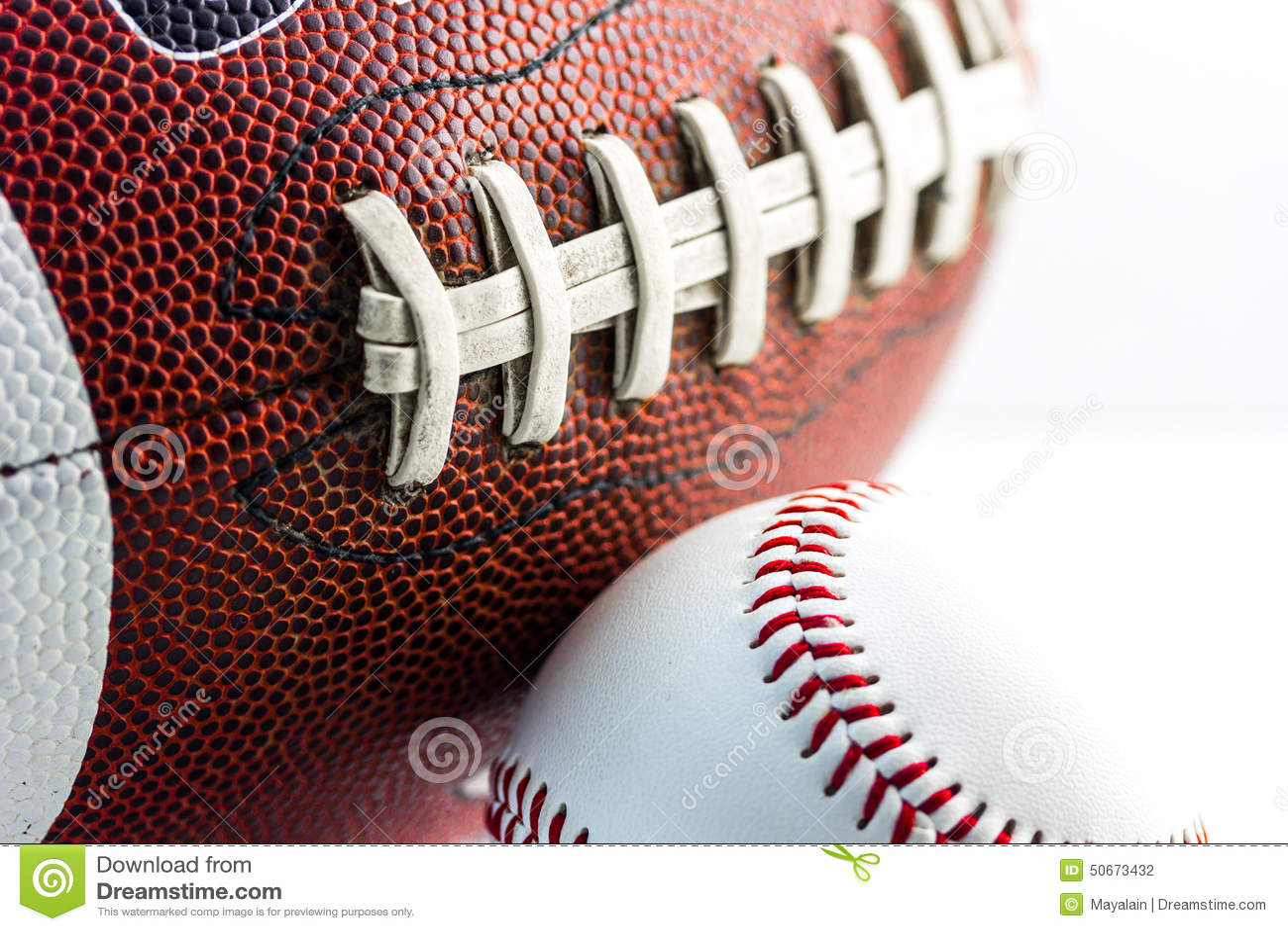 Football And Baseball Balls Stock Photo Image Of