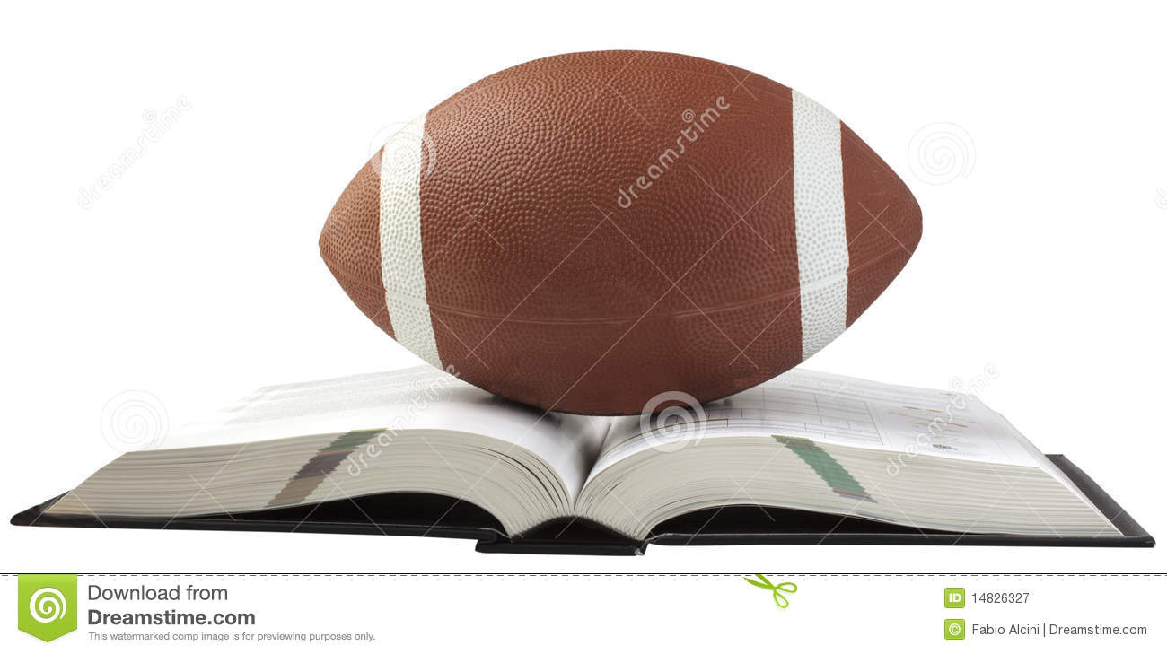 Football And Book Royalty Free Stock Photography Image