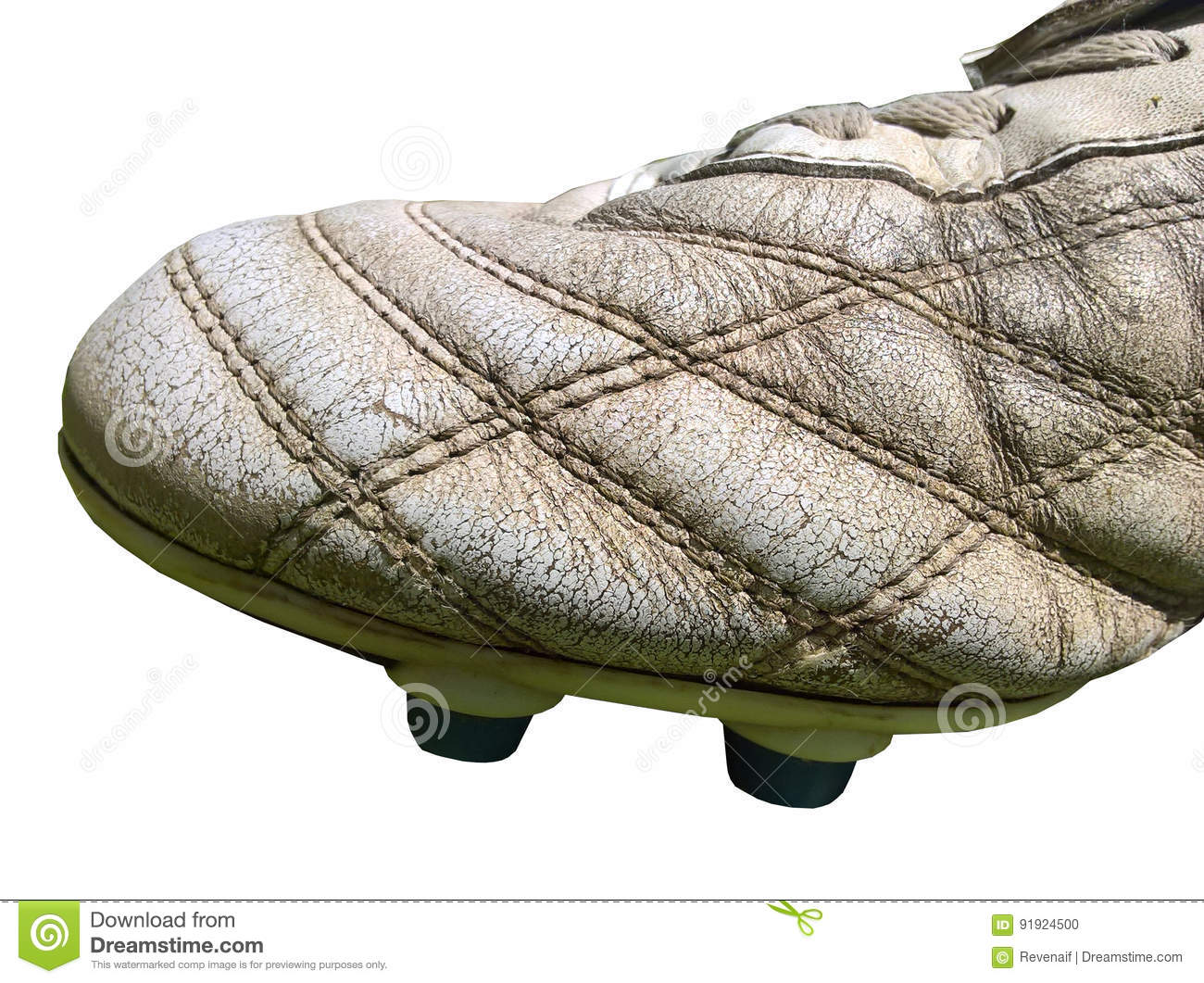 Football Boot Old Leather Isolated