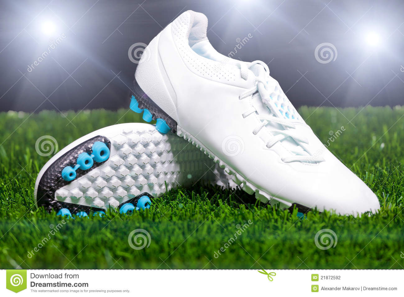 7fb2d23ed7c Football Boots On The Grass Stock Photo - Image of foot
