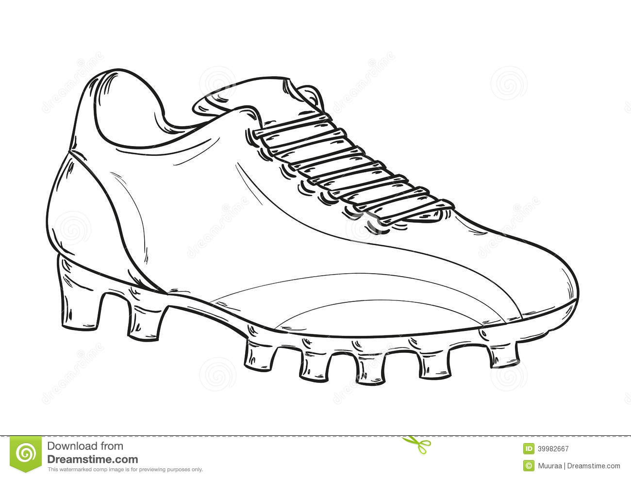 Line Drawing Football : Football boots sketch stock vector illustration of