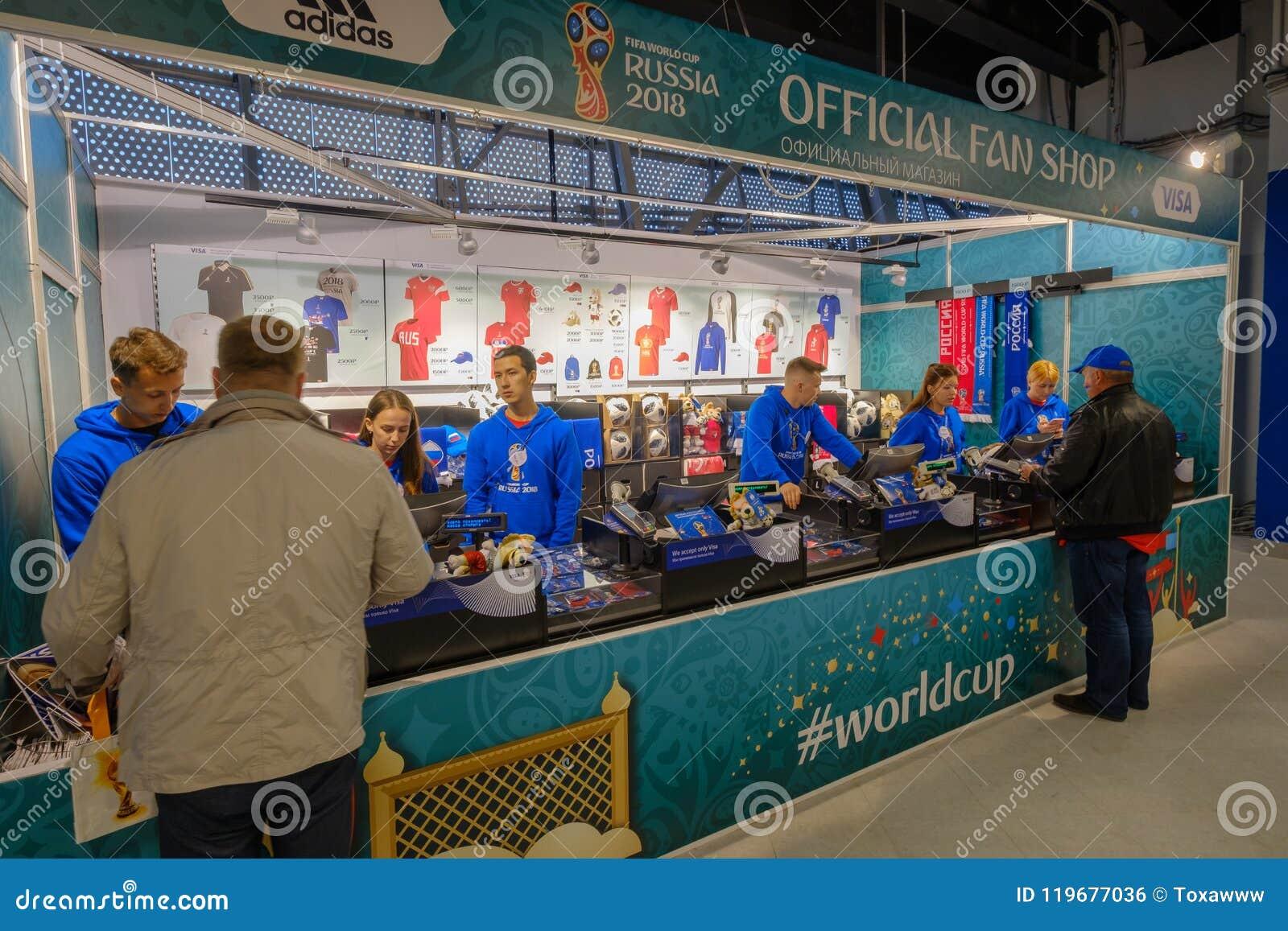 Football Bying Souvenirs At Official Shop In Stadion Kaliningrad