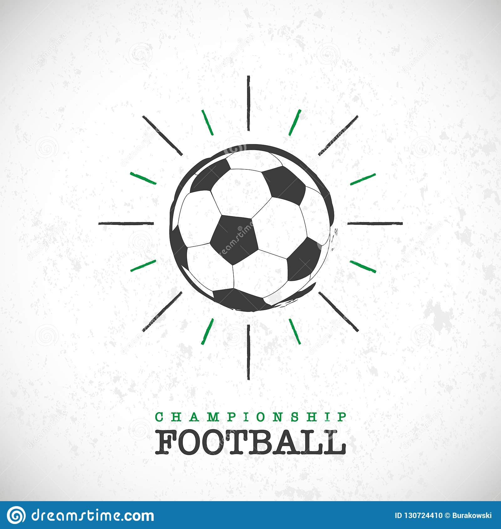 Football championship background with abstract soccer ball