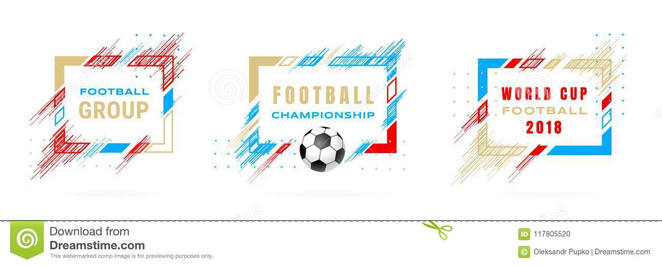 Football Cup 2018, Soccer Championship Illustration. Vector Frames ...