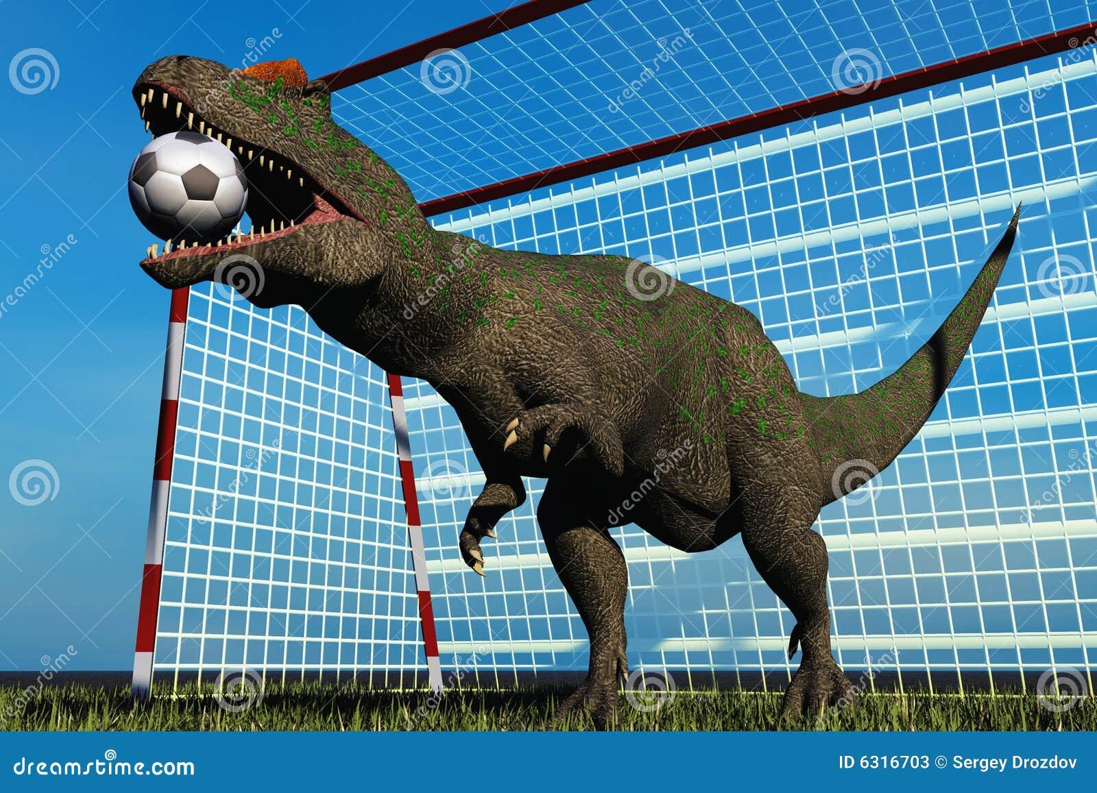 Football dinosaur stock illustration. Illustration of soccer - 6316703