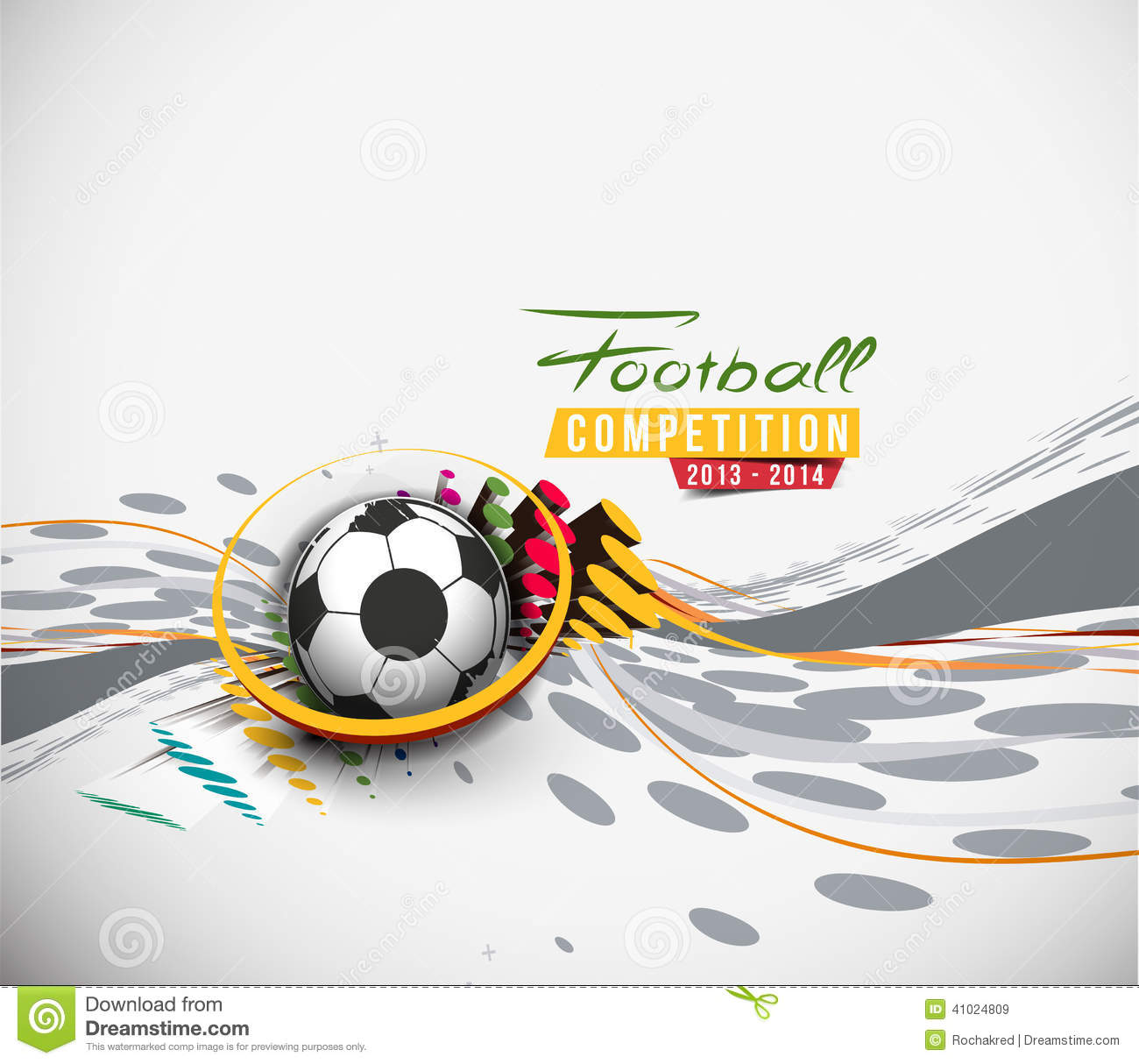 Football Event Poster Graphic Stock Vector Image 41024809