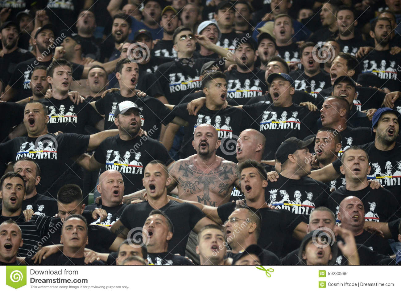 Football Fans Cheering Editorial Photo Image Of Groupama 59230966