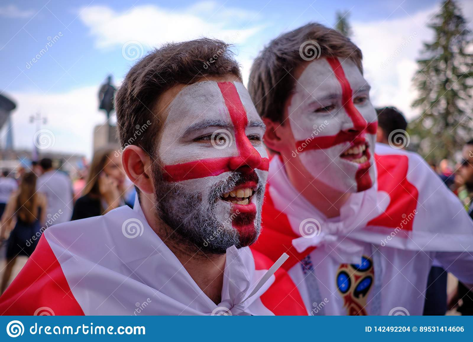 Football Fans Before The Match Of Belgium And England For ...