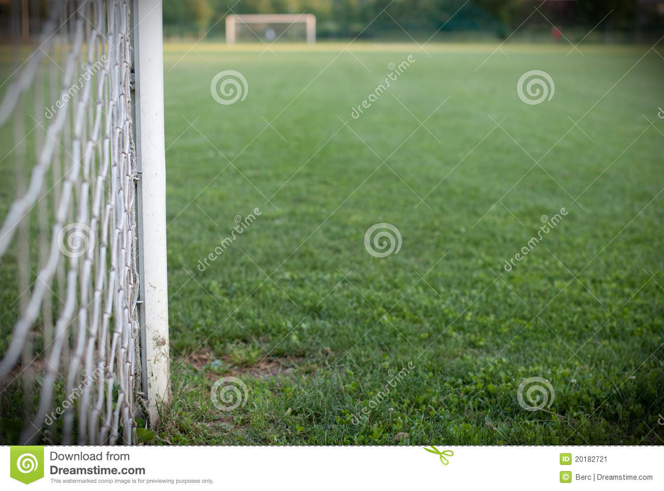 football field close up view of the goal post stock image image
