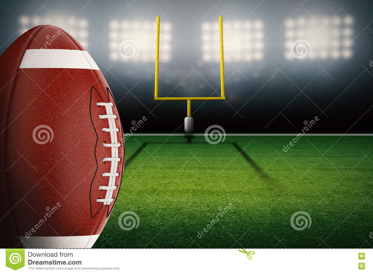 Football On Field Stock Photo Image Of Play Background