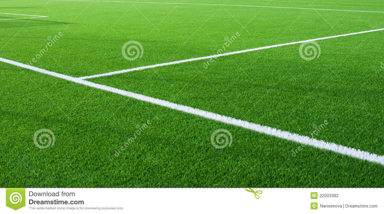 Football Field Fragment With White Lines Stock Photography ...