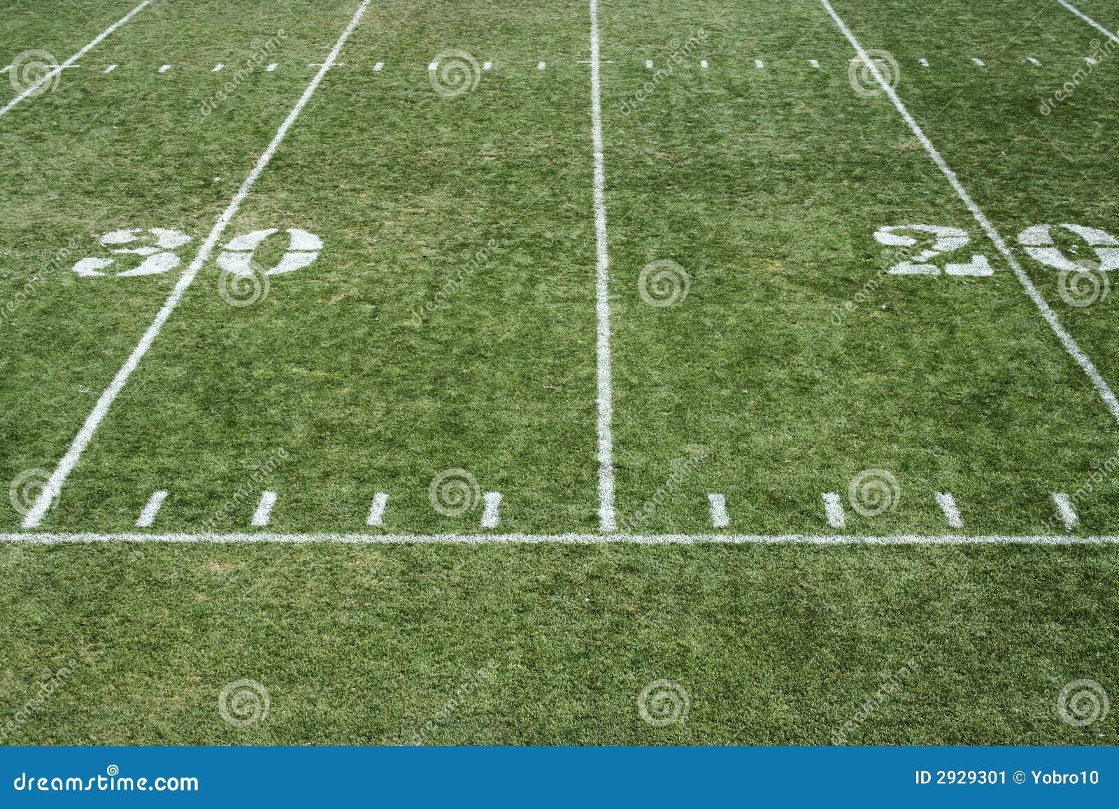 Football Field Grass Stock Image Image Of Tradition Yardage 2929301