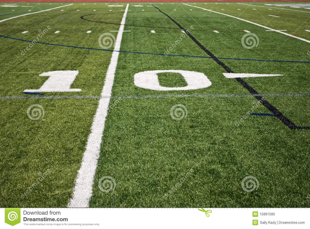 Football Field In Your Backyard : Football Field Lines Stock Photo  Image 15891580