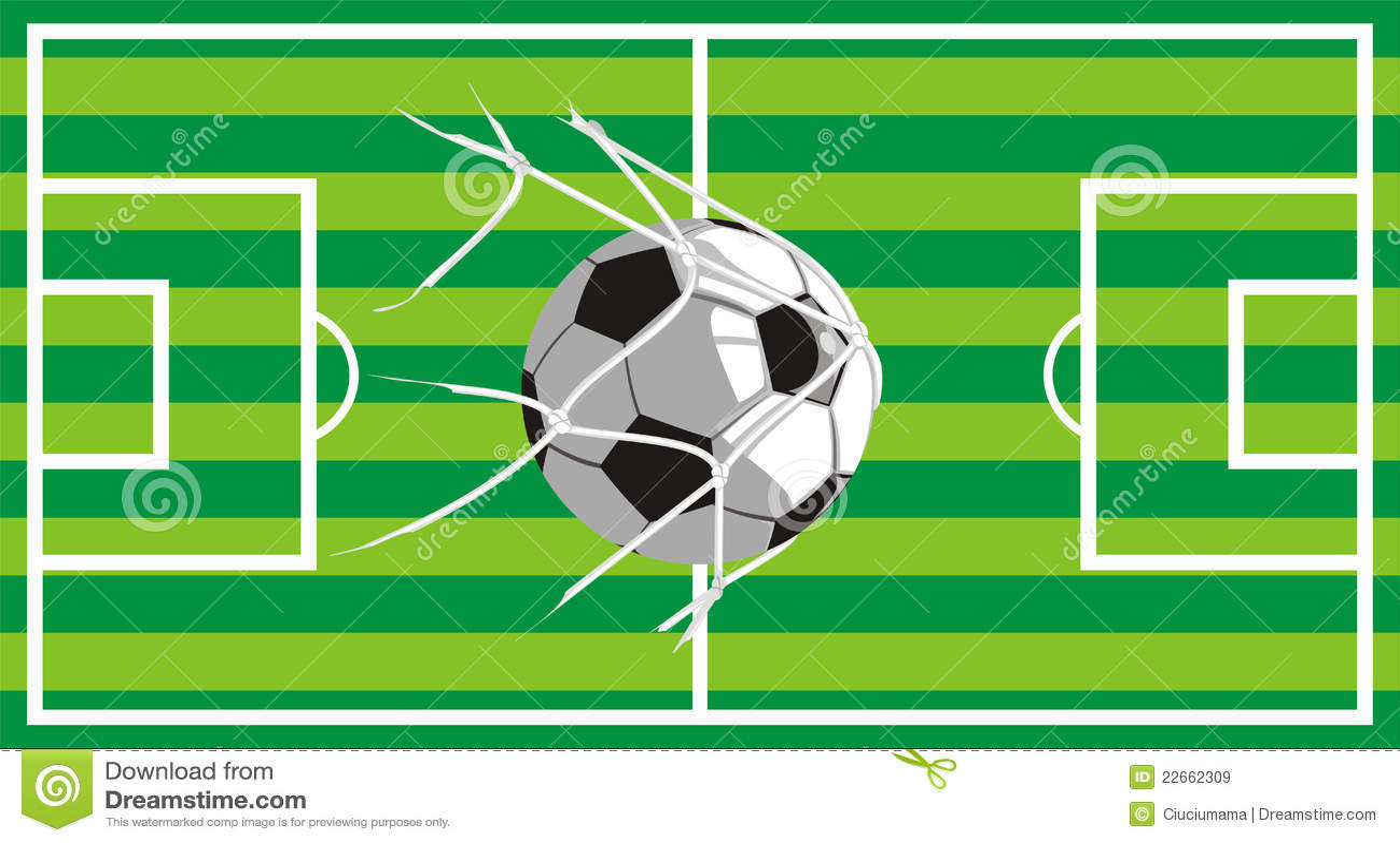Football Field - Shot On Target Stock Vector - Illustration