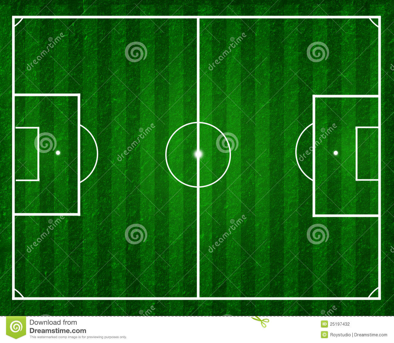 football field or soccer field stock illustration