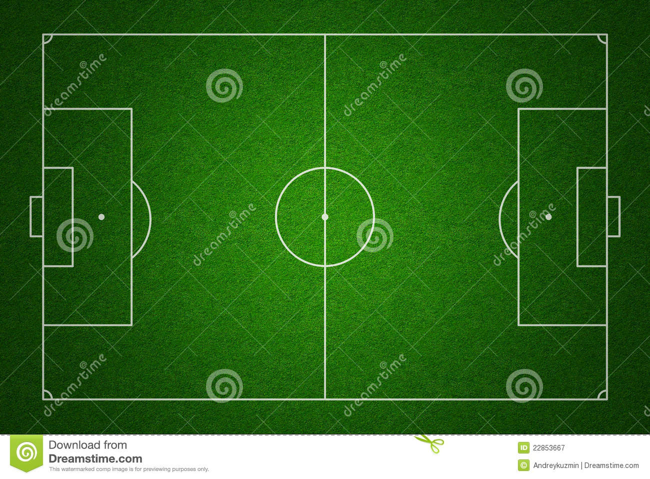 Football Field Top View With Standard Markings Royalty