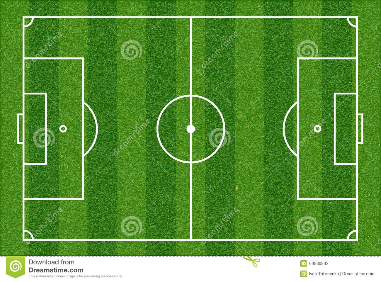 Football field    Top    view stock image Image of field