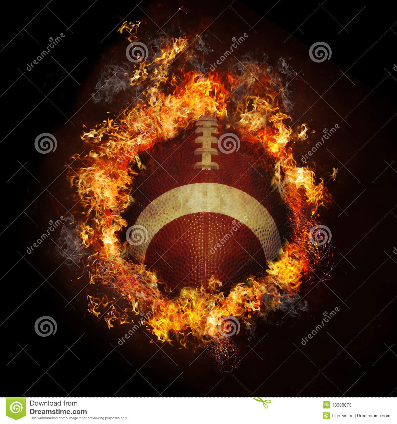football on fire stock photos
