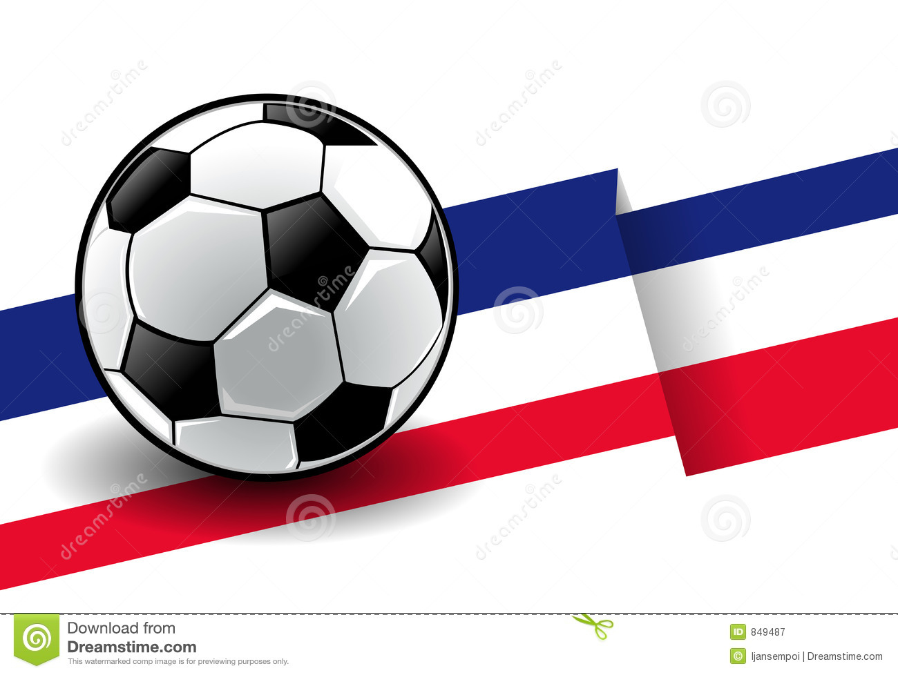 Football with flag - France