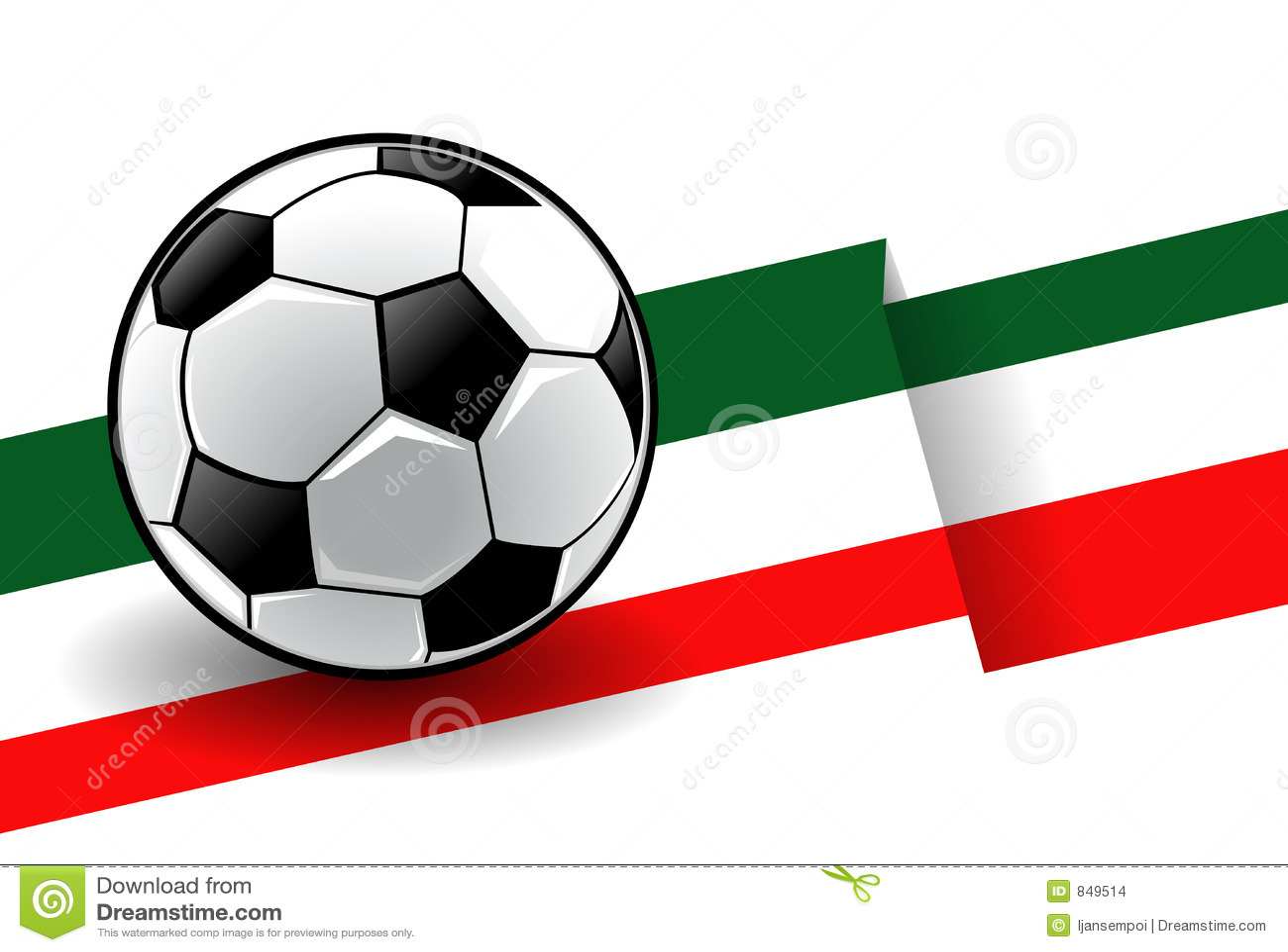 Football with flag - Italy
