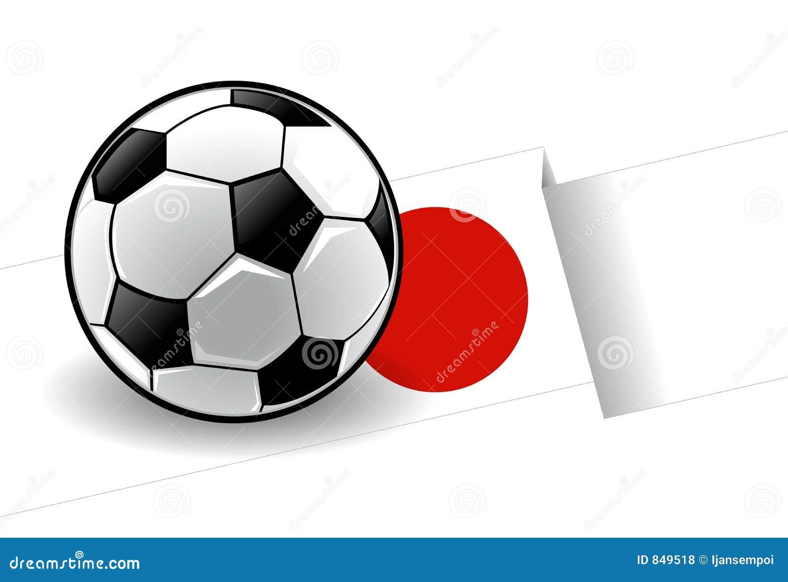 Football with flag - Japan
