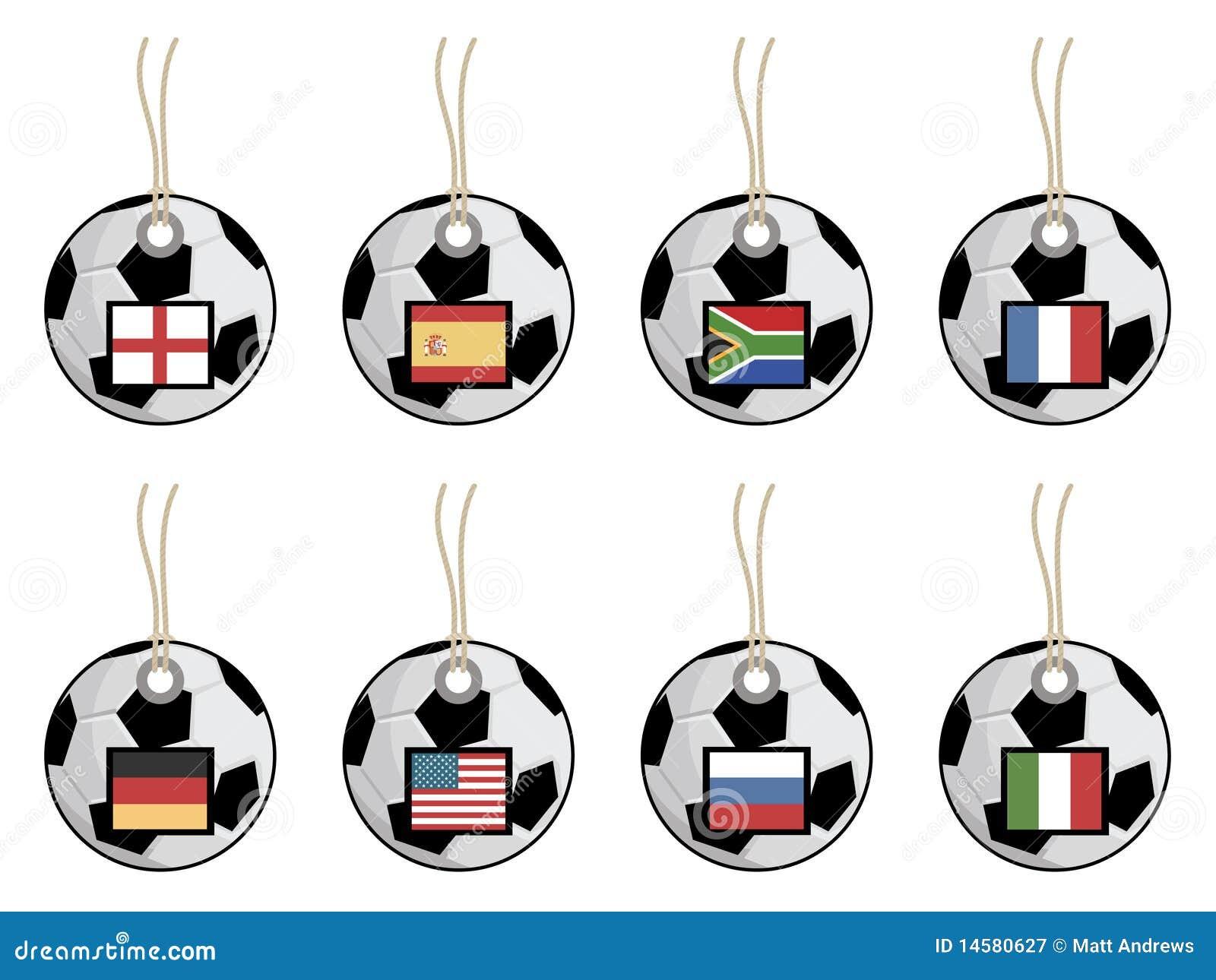 Football Flag Tags Royalty Free Stock Photography - Image ...