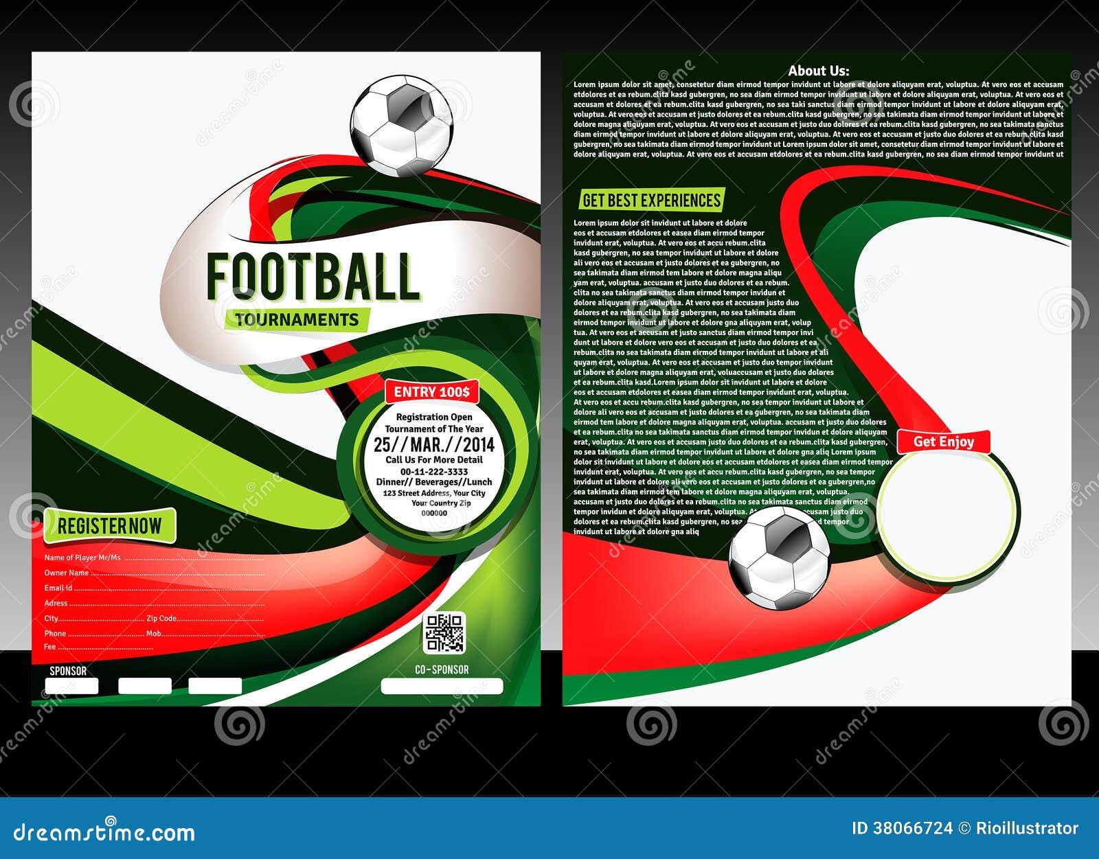 football flyer template stock illustration image  football flyer template stock images