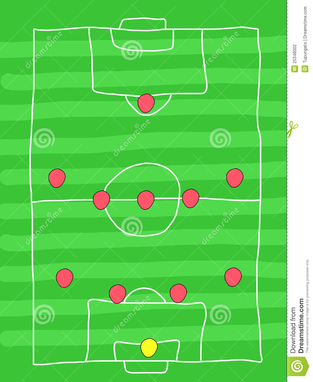 Football Formation Stock Illustration. Image Of Scribble