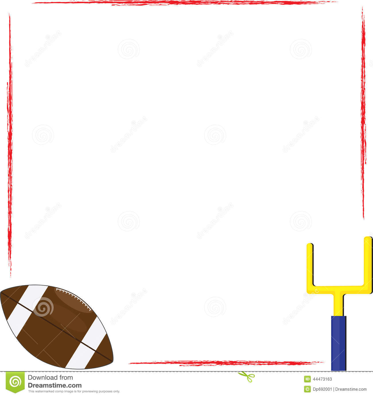 Football Frame Stock Vector - Image: 44473163