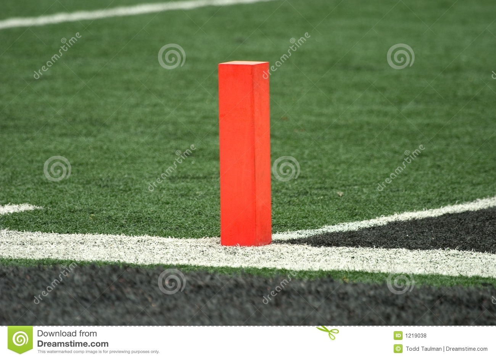 Football Goal Line Pylon Royalty Free Stock Photos Image