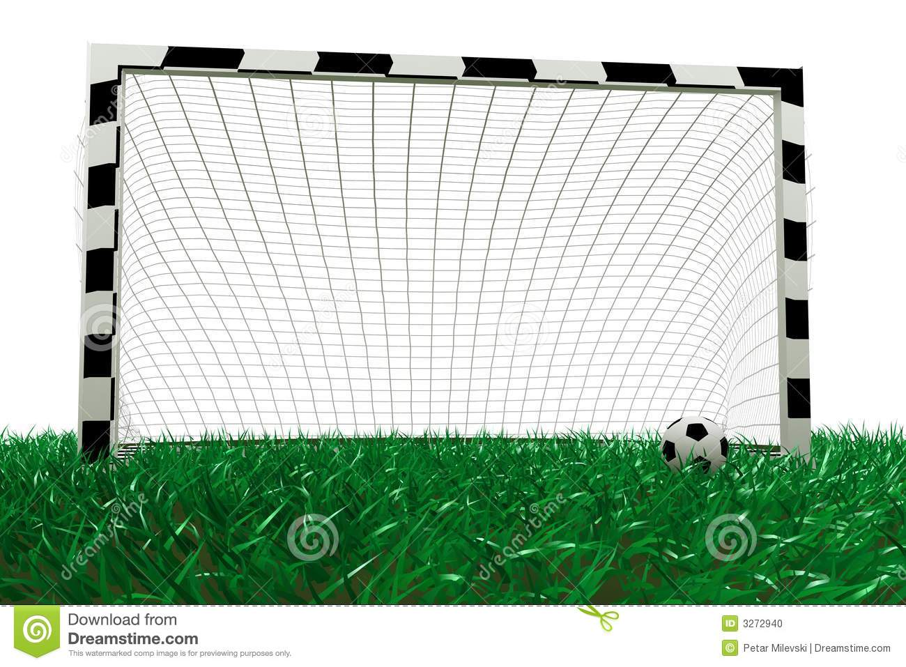 Football Goal And Soccer Ball Stock Photo - Image: 3272940