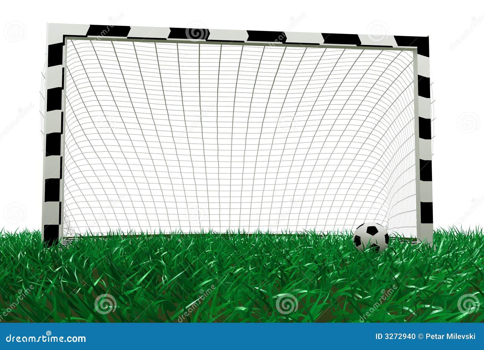 Football Goal And Soccer Ball Stock Photo - Image: 3272940