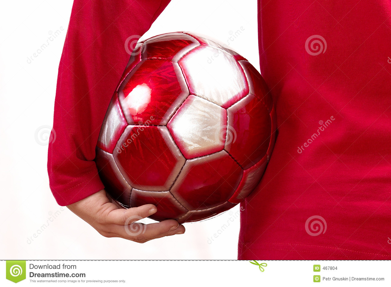 Download With A Football In A Hand … Stock Photo - Image of rack, attention: 467804