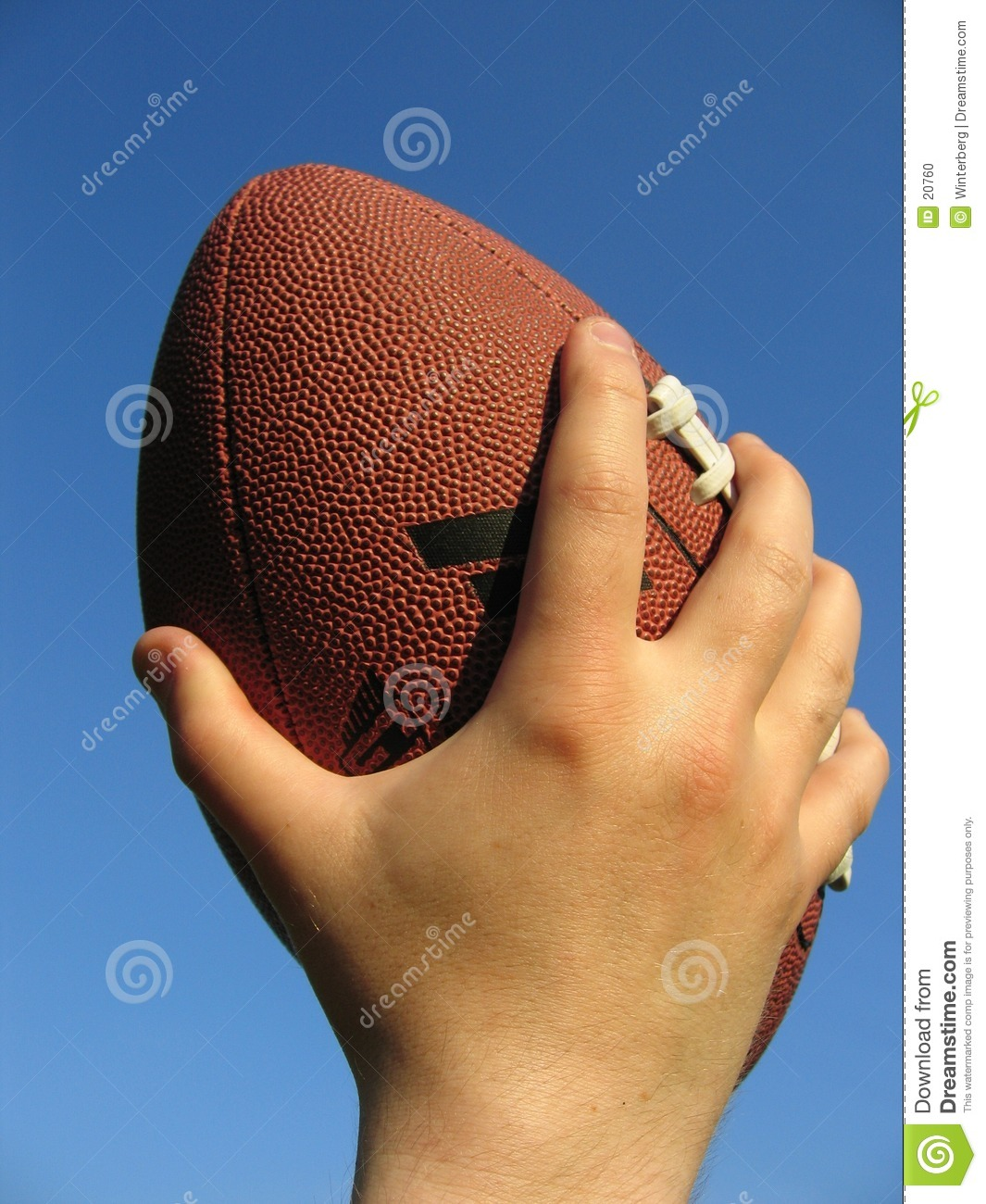 football in hand stock photo image 20760