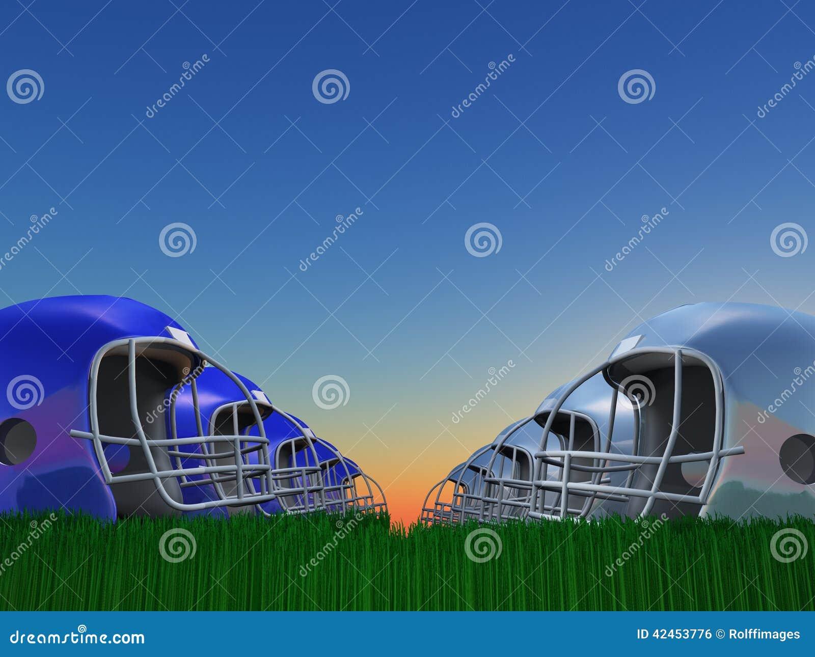 Football-Helm-Zusammensetzung