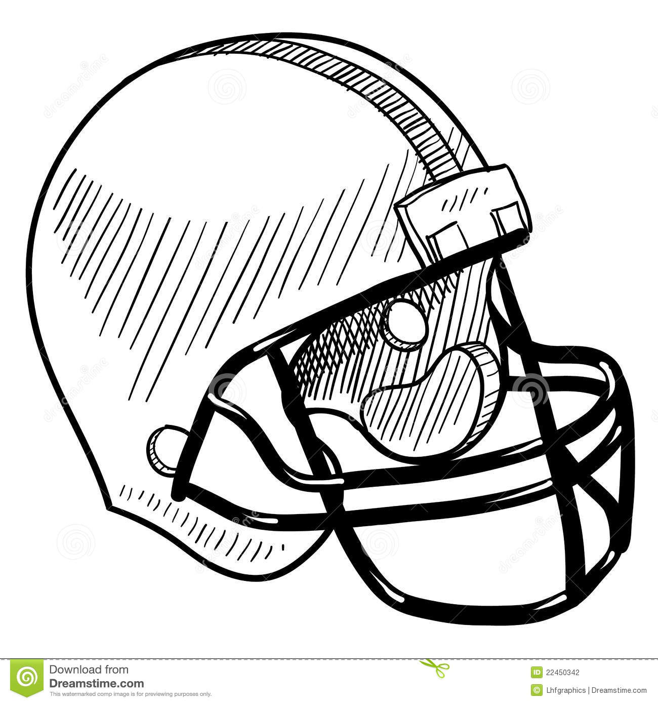 football helmet drawing stock vector illustration of gridiron