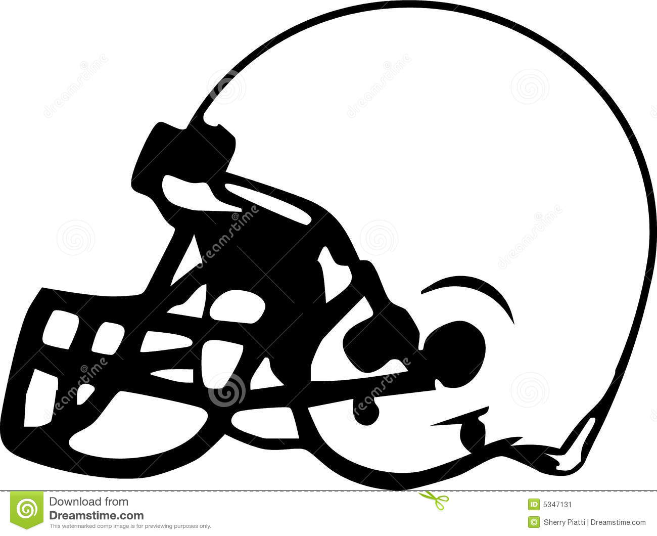 football helmet drawing stock illustration illustration of gear