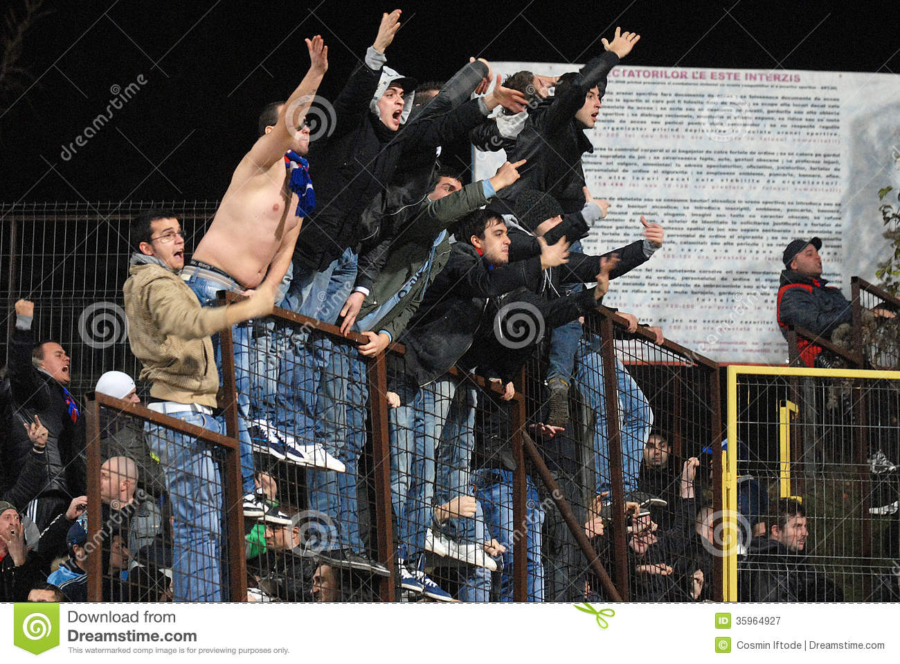 football hooligans editorial photography image of arena