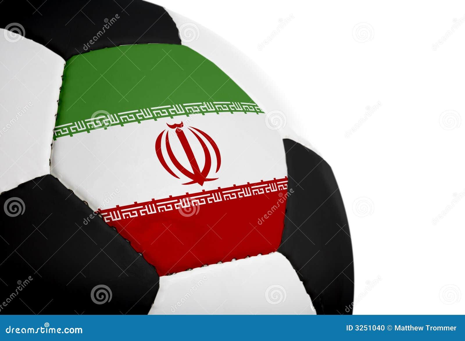 Football irańczyk bandery