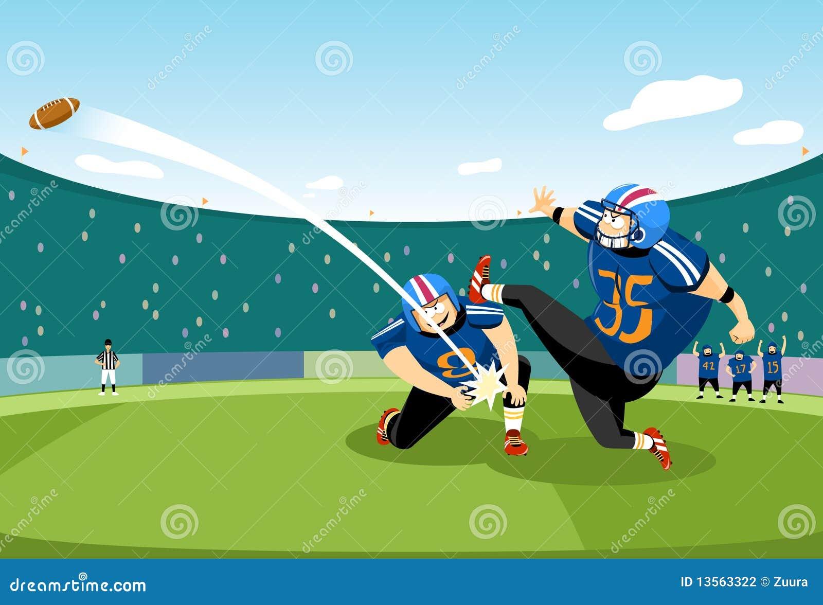 Football Kick Off Stock Illustration Illustration Of Support